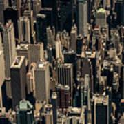 Midtown Manhattan Skyline Aerial Art Print