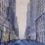 Midtown White Art Print
