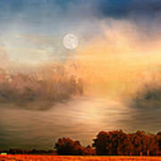 Midwest Harvest Moon Art Print