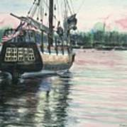 Mighty Ship Sleeping Art Print