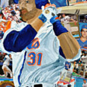 Mike Piazza Print by Michael Lee
