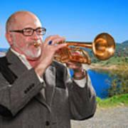 Mike Vax Professional Trumpet Player Photographic Print 3761.02 Art Print