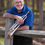 Mike Vax Professional Trumpet Player Photographic Print 3766.02 Art Print