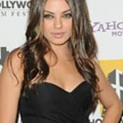 Mila Kunis At Arrivals For 14th Annual Art Print