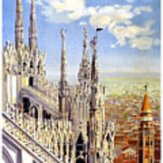 Milan Travel Print Art Print