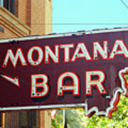 Miles City, Montana - Bar Neon Art Print