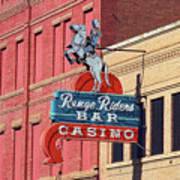 Miles City, Montana - Downtown Casino Art Print