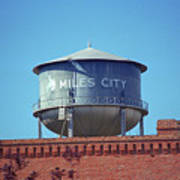 Miles City, Montana - Water Tower Art Print