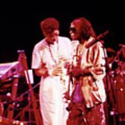 Miles Davis Image 10 And Bob Berg 1985 Your Under Arrest Tour Art Print