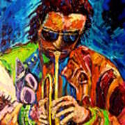 Miles Davis Hot Jazz Portraits By Carole Spandau Art Print
