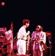 Miles Davis Image 9  With Bob Berg  Art Print