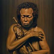 Miles Davis Painting Art Print