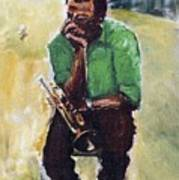 Miles Davis With Green Shirt Art Print