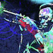 Miles Jazz Art Print