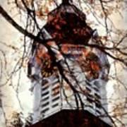 Milford Clock Tower Vintage Art Print by Janine Riley