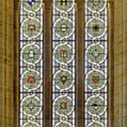 Military Insignia On Stained Glass - Meuse Argonne - East Art Print