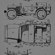 Military Vehicle Body Patent Drawing 1d Art Print