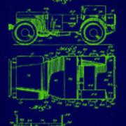 Military Vehicle Body Patent Drawing 1e Art Print
