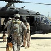 Military Working Dog Handlers Board Art Print