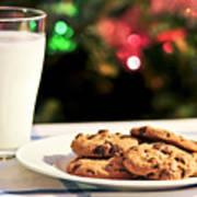 Milk And Cookies For Santa Art Print by Elena Elisseeva
