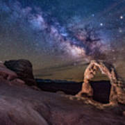 Milky Way And Delicate Arch Art Print