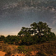 Milky Way Arch Over Enchanted Rock State Natural Area - Fredericksburg Texas Hill Country Art Print
