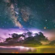 Milky Way Monsoon Art Print