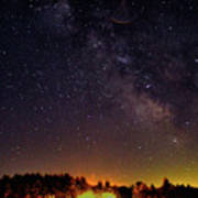 Milky Way, Moultonborough, Nh Art Print
