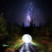 Milky Way Orb Art Print