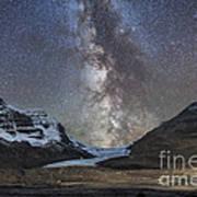 Milky Way Over Athabasca Glacier Art Print