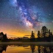 Milky Way Over Coffin Pond  Art Print