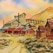 Mill Bodie Ghost Town California Art Print