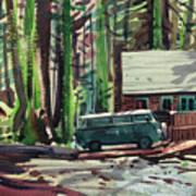 Mill Creek Camp Art Print