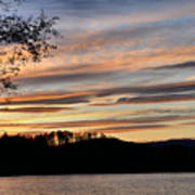 Mill Creek Lake Sun Set Art Print by Todd Hostetter