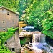 Mill Creek Park Lanterman's Mill And Covered Bridge Art Print