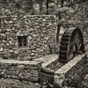 Mill Creek Water Wheel Art Print
