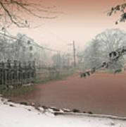 Mill Pond Snow Art Print