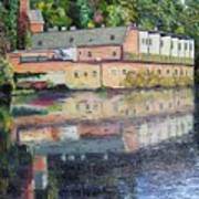 Mill Reflections Art Print