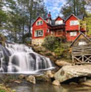 Mill Shoals Falls - Wnc Blue Ridge Waterfalls Art Print