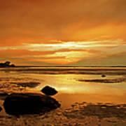 Mill Way Beach Sunset Art Print