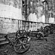 Mill Wheels Art Print
