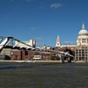 Millennium Bridge And St Pauls Art Print