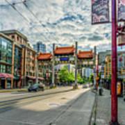 Millennium Gate In Vancouver Chinatown, Canada Art Print