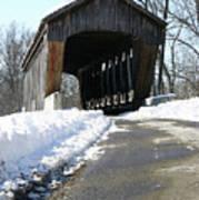 Millrace Park Old Covered Bridge - Columbus Indiana Art Print