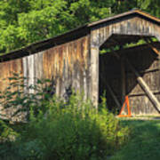 Milton Dye Covered Bridge  Art Print