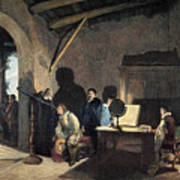 Milton Visiting Galileo Art Print