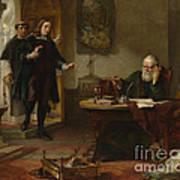 Milton Visiting Imprisoned Galileo Art Print