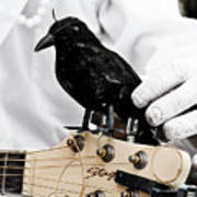 Mime's Guitar Accompanist Art Print