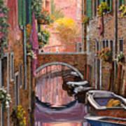 Mimosa Sui Canali Art Print by Guido Borelli