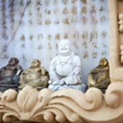 Minature Buddhas Art Print